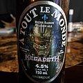 A Tout Le Monde Saison Megadeth beer bottle