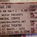 Cannibal Corpse - Other Collectable - Cannibal Corpse ticket stub
