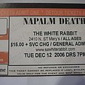 Napalm Death tik stub Other Collectable
