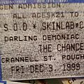 S.O.D. - Other Collectable - S.O.D. ticket stub