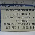 Nile - Other Collectable - Nile ticket stub