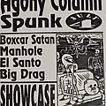 Agony Column - Other Collectable - Texas Grime Fest flyer