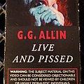 GG Allin - Tape / Vinyl / CD / Recording etc - GG Allin - Live and Pissed