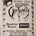 Obituary - Other Collectable - Obituary flyer