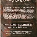 Blood Storm - Other Collectable - Shadow Woods metalfest flyer