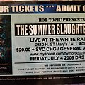Kataklysm - Other Collectable - Summer Slaughter Tour ticket stub