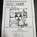 Macabre - Other Collectable - Macabre promo flyer