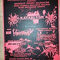 Kataklysm - Other Collectable - Monday Night Massacre flyer