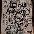 Lethal Aggression - Other Collectable - Lethal Aggressive lyric sheet