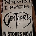 Napalm Death, Obituary, tour poster Other Collectable