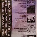 Carcass - Other Collectable - Earache flyer