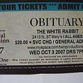 Obituary tik stub Other Collectable