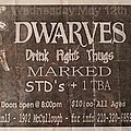 Dwarves - Other Collectable - Dwarves flyer