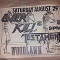 Overkill - Other Collectable - Overkill flyer