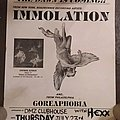 Immolation - Other Collectable - Immolation Tour Poster