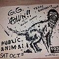 GG Allin - Other Collectable - Texas Bloodbath Tour GG Allin flyer