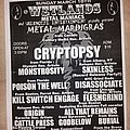 Cryptopsy - Other Collectable - Wetlands Metal Maniacs flyer