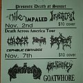 Nile - Other Collectable - Death at Sunset calender flyer