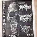 Immolation - Other Collectable - Immolation flyer