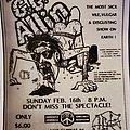GG Allin - Other Collectable - GG Allin flyer