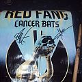 Other Collectable - Red Fang & Cancer Bats signed poster & drumstick