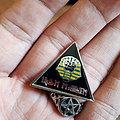Old vintage iron maiden pin