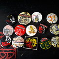 Vintage iron maiden buttons