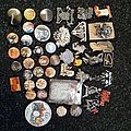 Old and new pins buttons pendants