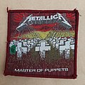 Master of puppets red border patch