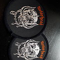 Motorhead snaggletooth woven patch vintage