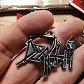Official pewter vintage death logo pendant Pin / Badge