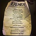 Exumer setlist Other Collectable