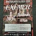 Exumer - Other Collectable - Exumer Winter Hostilities Tour Poster