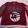 Fear Factory maroon color FF logo long sleeve
