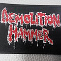 Demolition Hammer - RED/WHITE LOGO ( BLACK BORDER ) woven patch Brand New