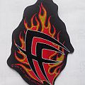 Official Fear Factory Sew-on patch Cut-out Flames Logo