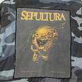 Sepultura - Beneath the remains official backpatch (c) 1990 Blue Grape Merchandise  Very rare / Vintage