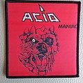 "Acid - Patch - Acid "" Maniac ""  woven patch"