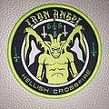 Iron Angel - Patch - Iron Angel - Hellish Crossfire  woven patch green  border