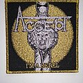 Accept - Patch - Accept - I'm a Rebel - woven patch gold glitter border