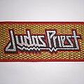 Judas Priest - Patch - Judas Priest glitter woven stripe patch red border