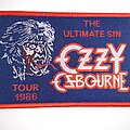 Ozzy Osbourne - Patch - Ozzy Osbourne - The Ultimate Sin Tour - woven patch