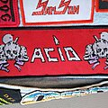 "Acid - Patch - Acid "" Acid ""  woven stripe  patch"
