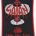 Satan - Patch - Satan -  Into the Fire  - woven patch red