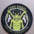 Iron Angel - Patch - Iron Angel - Hellish Crossfire  woven patch black  border