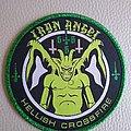 Iron Angel - Patch - Iron Angel - Hellish Crossfire  woven patch green glitter border