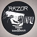 Razor - Patch - Razor - Armed and Dangerous -  woven patch official