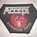 Accept - Patch - Accept -  European Tour  -  woven patch