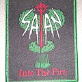 Satan - Patch - Satan -  Into the Fire  - woven patch