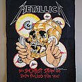 """Metallica - Patch - Metallica  original vtg 89's """"This shortest straw has been pulled for you!"""" back..."""